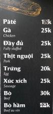 hn-banh mi menu