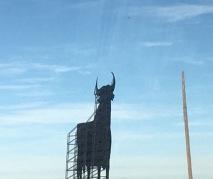 journey to pamplona-fake bull
